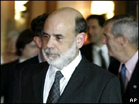 US Federal Reserve chief Ben Bernanke at Jackson Hole