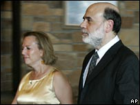 US Federal Reserve chief Ben Bernanke and his wife at Jackson Hole