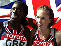 Christine Ohuruogu and Nicola Sanders