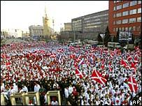 Демонстрация движения 'Наши' в Москве 25 марта 2007 года