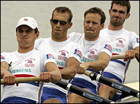 Great Britain's lightweight four of James Clark, Paul Mattick, James Fynn-Lindsay and Richard Chambers