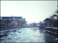 River Odra in the town of Wroclaw