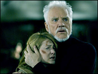 Malcolm McDowell and Scout Taylor-Compton in Halloween
