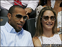 Thierry Henry and former wife Claire Merry