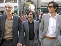 Owen Wilson, Jason Schwartzman and Adrien Brody (r) in The Darjeeling Limited