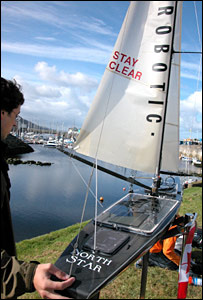 A robotic sailing boat (picture: Aberystwyth University)