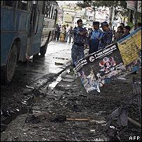 Scene of blast in Kathmandu