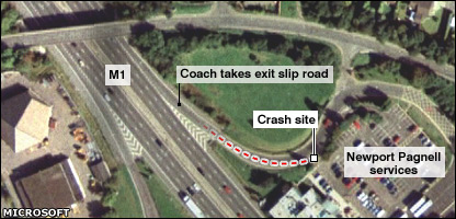 Aerial image of crash site