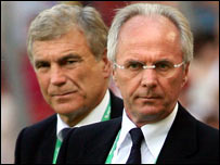 Sir Trevor Brooking and Sven-Goran Eriksson