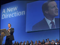 David Cameron at the 2006 Tory party conference