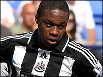 Newcastle midfielder Charles N'Zogbia