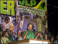 Bruce Golding addresses JLP supporters