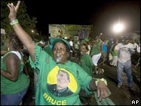 JLP supporters on the streets of Kingston