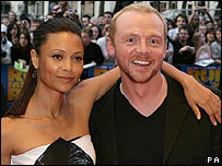 Thandie Newton and Simon Pegg