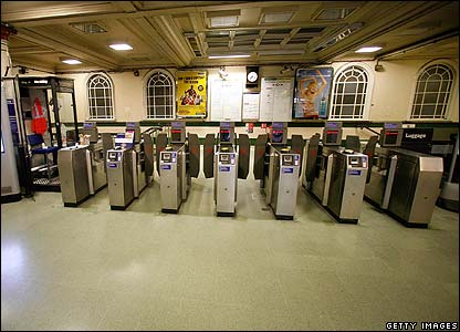 Barriers at Tube station