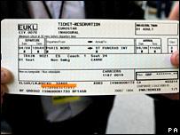 Eurostar ticket