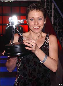 Jane Tomlinson with BBC Sports Personality award