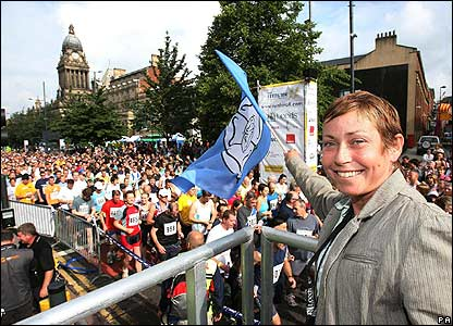 Jane Tomlinson at Leeds 10km run