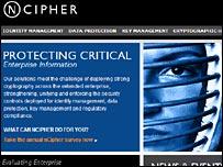 Screenshot from nCipher's website