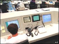 Oficina de control aéreo.