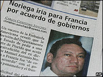 Página de diario en Panamá.