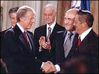 Jimmy Carter y Omar Torrijos.