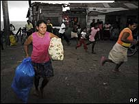 People evacuate from Bilwi, Nicaragua