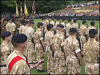 The regiment was established at a ceremony in Staffordshire  