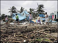 Damage caused by Hurricane Dean in Mexico