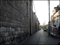 The northern wall around Damascus' old city