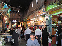 One of the souks threatened by the road plans