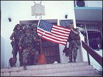 """Soldados estadounidenses en """"La Comandancia""""."""