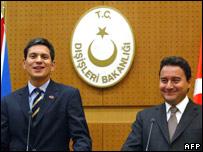 David Miliband and Ali Babacan
