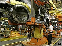 Production line at US carmaker Ford