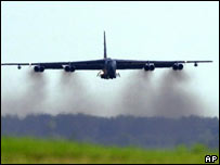 A B-52 bomber at Barksdale Air Force Base, Louisiana. File pic