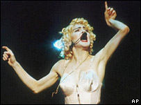 Madonna in concert in 1990