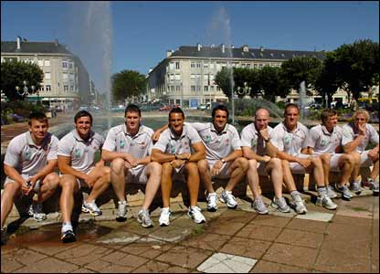 The Wales squad take in the sights in St Nazaire