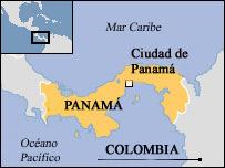 Mapa de Panamá.