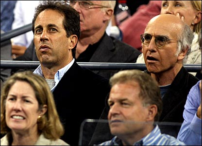 Jerry Seinfeld (back left) and Larry David