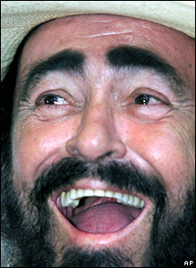 File photograph of Luciano Pavarotti