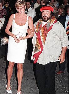 Pavarotti and Princess Diana