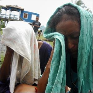 People await news of missing fishermen in Puerto Cabezas, Nicaragua