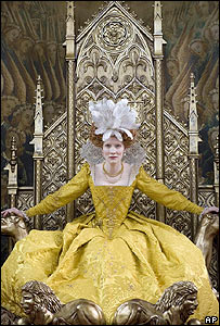 Cate Blanchett as Elizabeth I in The Golden Age