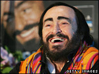 Pavarotti in New Zealand in November 2005
