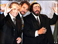 Carreras, Domingo and Pavarotti in 1996