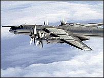 Tupolev-95 Bear bomber (MoD pic)