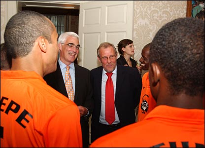 The newly appointed World Cup ambassador joins in the conversation