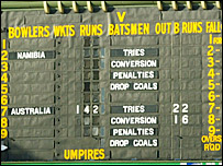 Australia ran up a cricket score against Namibia in 2003