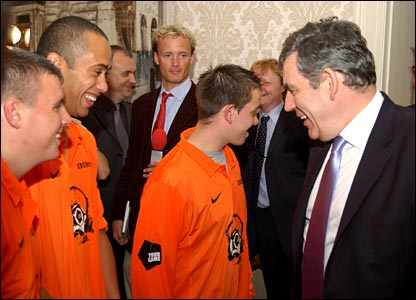 The Prime Minister meeting the All Stars