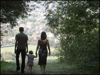 Family out for a walk, BBC